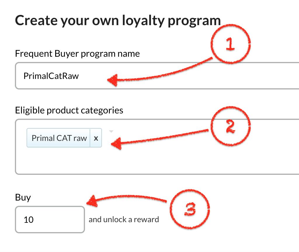 how do i setup a frequent buyer program thirdshelf